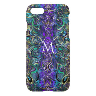 Lavender Purple Pastel Mandala Monogram iPhone 7 Case