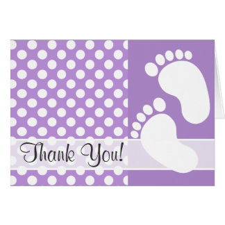 Lavender Purple Polka Dots Card
