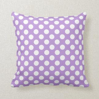Lavender Purple Polka Dots Throw Pillow