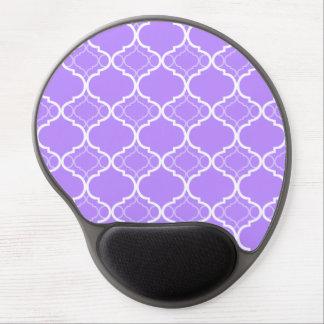 Lavender Purple Quatrefoil Geometric Pattern Gel Mouse Pad