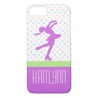 Lavender Purple Skater Bright Pastel Polka-Dots iPhone 7 Case