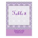 Lavender Purple Table Number Postcard