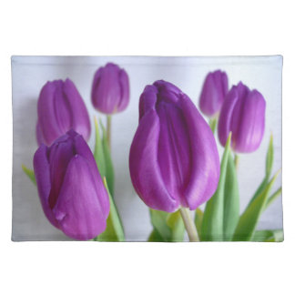 Lavender-Purple Tulips placemats