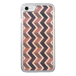 Lavender Purple White Geometric Chevron Pattern Carved iPhone 7 Case