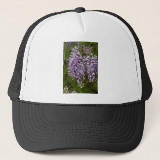 Lavender Purple Wisteria Wildflower Vine Trucker Hat