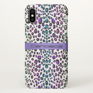 Lavender Rainbow Leopard Exotic Animal Print iPhone X Case