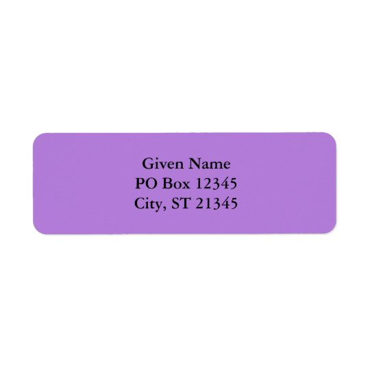 Lavender Return Address Label