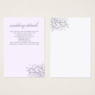 Lavender Romance Floral Wedding cards