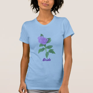 Lavender Rose Painting Bride shirts