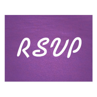 Lavender RSVP Card