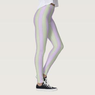 Lavender & Sage Stripes Leggings