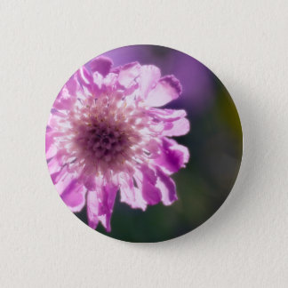 Lavender Scabiosa Flower 2 Inch Round Button