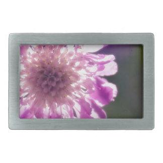 Lavender Scabiosa Flower Belt Buckles