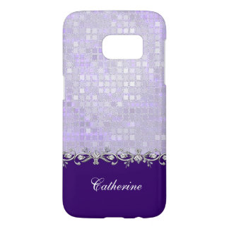 Lavender Sequins Samsung Galaxy S7 Case