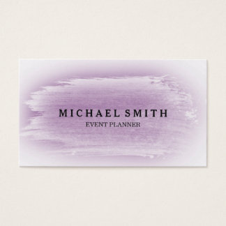 Lavender & Silver Watercolor Texture Business Card