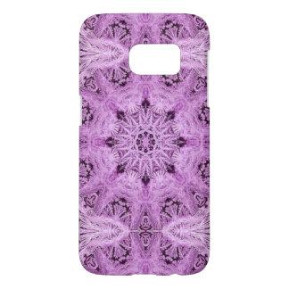 Lavender Snowflake Samsung Galaxy S7 Case