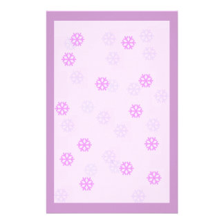 Lavender Snowflake Winter Stationary Personalized Stationery