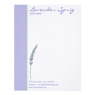 Lavender Sprig Letterhead