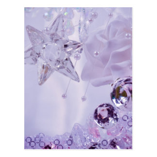"""Lavender Star and Crystals"" collection Postcard"