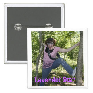 Lavender Star Pinback Buttons