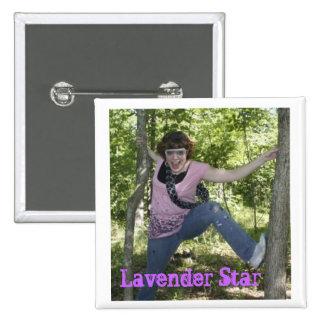 Lavender Star Pinback Buttons