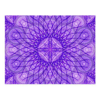 Lavender Star Mandala Postcard