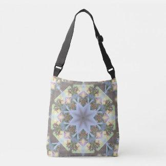 Lavender Starburst Mandala Crossbody/Tote Crossbody Bag