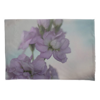 Lavender stock flowers pillowcase