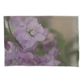 Lavender stock flowers pillowcase