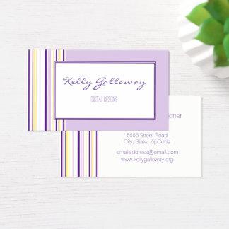Lavender Stripes Business Cards