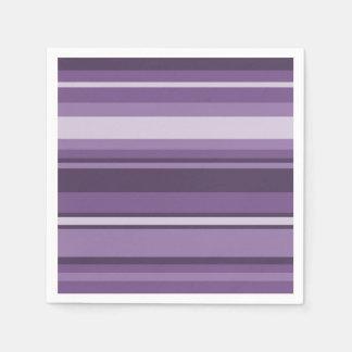 Lavender stripes disposable napkin