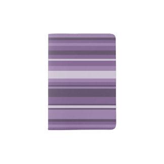Lavender stripes passport holder