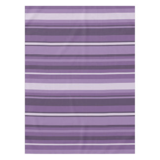 Lavender stripes tablecloth