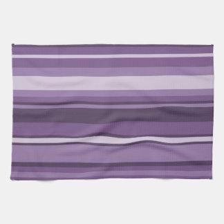 Lavender stripes towels