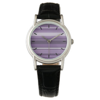Lavender stripes wristwatch