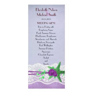 Lavender Summer Party Starfish Wedding Menu Custom Announcement
