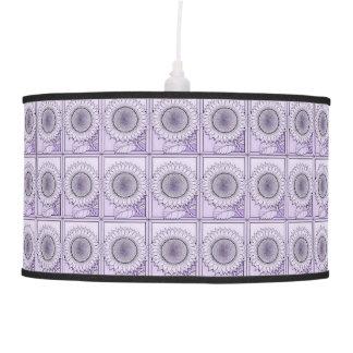 Lavender Sunflower Hanging Lamps
