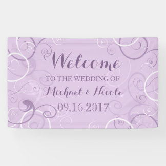 Lavender Swirls Wedding Welcome Sign