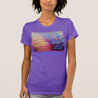 """Lavender"" T-shirt with lavender art"