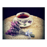 Lavender & Tea tea party invite, postcard, note Postcard