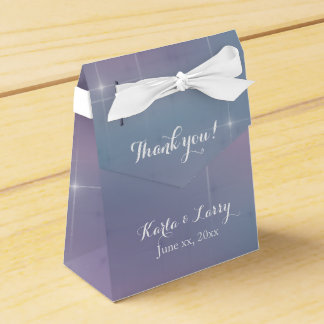 Lavender Teal Mauve Sparkle Favor Box