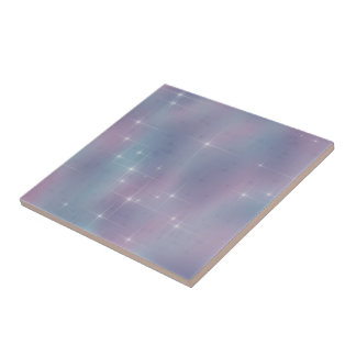Lavender Teal Mauve Sparkle Tile