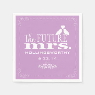 Lavender The Future Mrs Bridal Shower Disposable Napkins