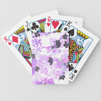 Lavender Thimble Weed Bicycle Playing Cards