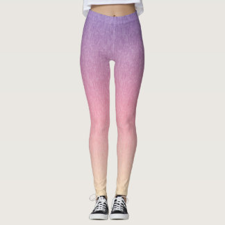 Lavender to Pink to Yellow Multicolored Leggings