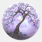 Lavender Tree of Life Rev 2. Classic Round Sticker