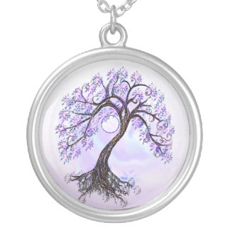 Lavender Tree of Life with Moon Necklace
