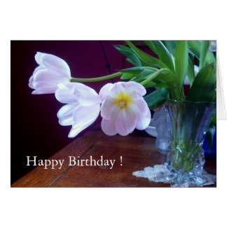 Lavender Tulip Birthday Card