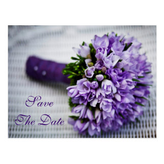 Lavender Tulip Flowers Save The Date Wedding Card Postcard