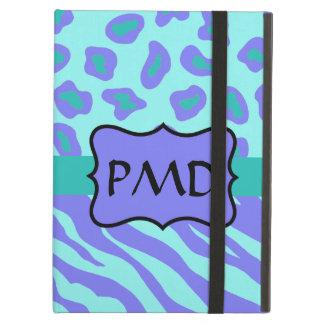 Lavender & Turquoise Zebra & Leopard Skin Custom iPad Air Cases